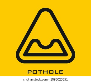 Pothole icon vector