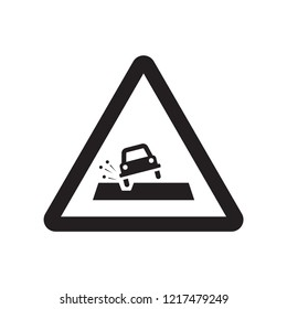 Pothole sign icon. Trendy Pothole sign logo concept on white background from Traffic Signs collection. Suitable for use on web apps, mobile apps and print media.