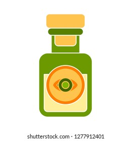 potion icon - potion isolate, chemical glass illustration - Vector laboratory bottle