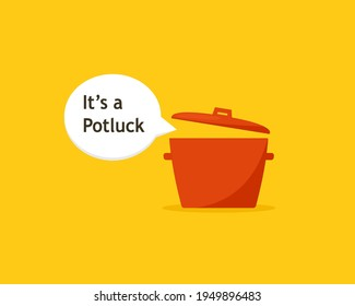 Potluck with speech bubble design image