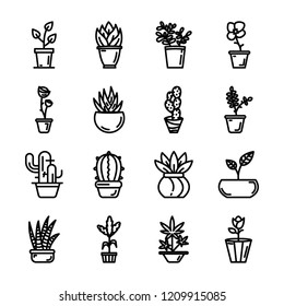 Potted Plants Icons