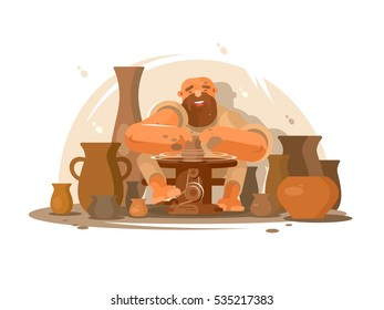 Potter bearded man