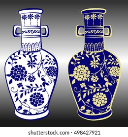 Pottery hand drawing vector ,porcelain