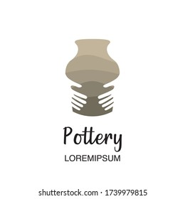 Pottery icon symbol or logo template