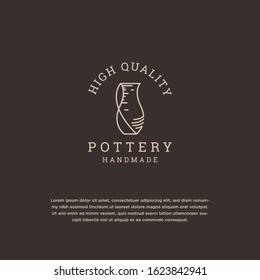 Pottery logo design template vector illustration