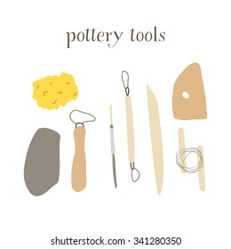 pottery tools Illustration Collection,vector
