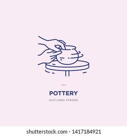 Pottery – Vector Line Icon