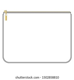 Pouch, case, clutch, purse, Technical Drawings, Vector Templates for Fashion Design