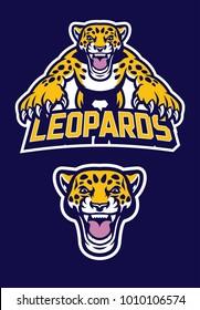 pounching leopard mascot