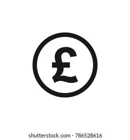 Pound Circle Icon Vector Template
