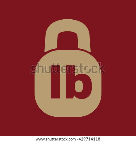Pound Icon Lb Weight Symbol Flat Stock Vector Royalty Free