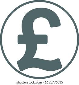 Pound icon. Pound symbol. Vector illustration