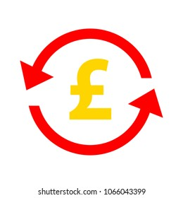Pound icon, vector Pound sign symbol - money currency illustration