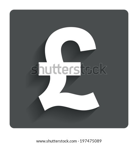 Pound Sign Icon Gbp Currency Symbol Stock Vector Royalty Free