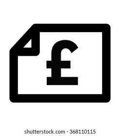 Pound Statement Bold Line Vector Icon
