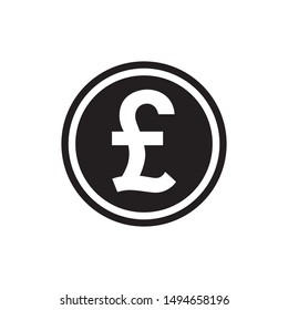 pound sterling GBP sign icon flat vector