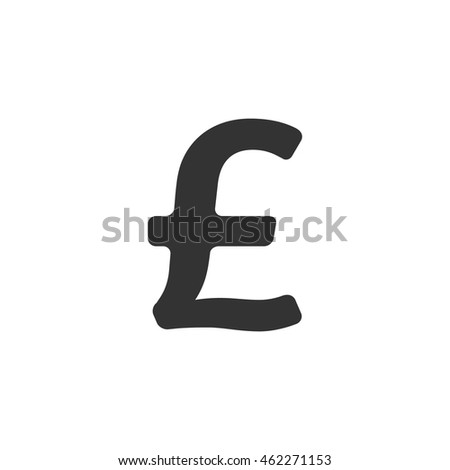 Pound Sterling Symbol Icon Single Grey Stock Vector Royalty Free