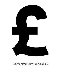 Pound symbol, Pound money icon, GBP currency symbol, vector illustration.