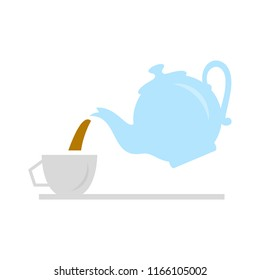 pouring tea party, party icon - teapot, afternoon tea party - drink hot coffee or tea