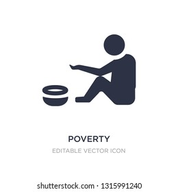 poverty icon on white background. Simple element illustration from General concept. poverty icon symbol design.