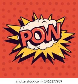 pow comic explosion pop art background