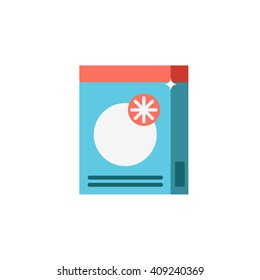 Powder detergent or washing vector icon