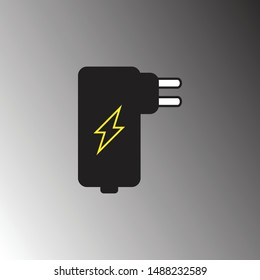 Power adapter icon vector illustration. Power adapter symbol for web and apps