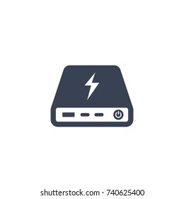 power bank icon isolated on white