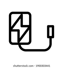 power bank icon or logo isolated sign symbol vector illustration - high quality black style vector icons