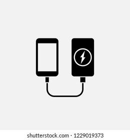 Power bank icon. Power bank symbol. Flat design. Stock - Vector illustration