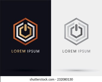 Power button graphic logo,icon,symbol, Vector.
