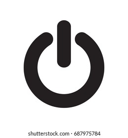 power button icon, outline, isolated vector