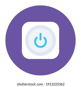 Power button, an icon of shutdown button