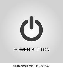 Power button icon. Power button symbol. Flat design. Stock - Vector illustration
