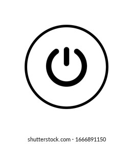Power button icon in a trendy design