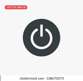 Power Button Icon Vector Illustration