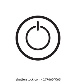 Power Button Icon Vector Illustration