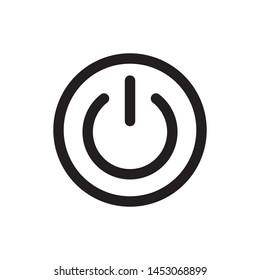 Power Button Icon,Start Icon, Ilustration - vector