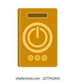 power button  - power button isolate, start button illustration - Vector power button