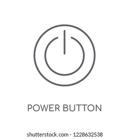 Power button linear icon. Modern outline Power button logo concept on white background from Smarthome collection. Suitable for use on web apps, mobile apps and print media.