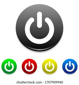 Power button on off icon vector. Good for shut down power button or icon on web, phone apps and others.