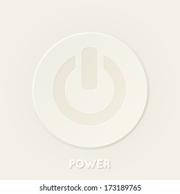 Power button of an open circle with a bar icon