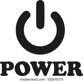 Power button with word
