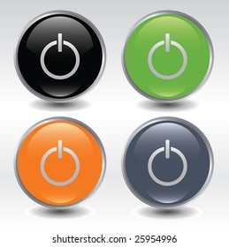 Power buttons icon set / vector