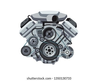 power car engine isolated vector image