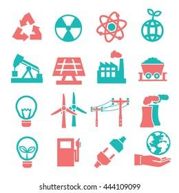 power eco icon set