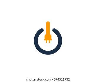 Power Electric Energy Logo Design Element
