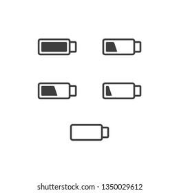 Power energy battery  icon
