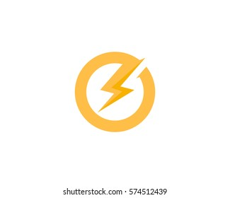 Power Energy Logo Design Element