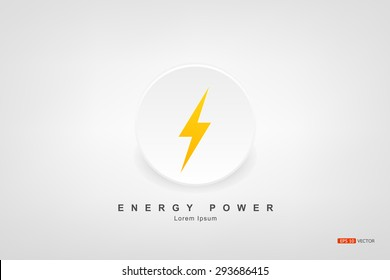 power energy symbol, Vector eps 10
